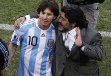 Диего Марадона и Лионел Меси